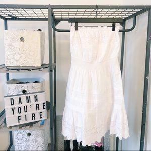 Rebecca Taylor strapless ruffle dress size 0